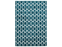 LivingStyles Neo Egyptian Made Indoor/Outdoor Rug in Peacock Blue - 230x160cm