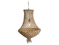 LivingStyles Chatou Knotted Jute Pendant Light