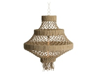 LivingStyles Alta Knotted Jute Pendant Light, Large