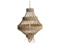 LivingStyles Alta Knotted Jute Pendant Light, Medium