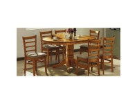 LivingStyles Mustang 5 Piece Rubberwood Extensible Dining Table Set, 106-150cm, Umber