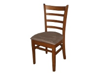 LivingStyles Mustang Rubberwood Dining Chair, Umber