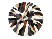 LivingStyles Matrix Fossil Hand Tufted Wool Round Rug, 150cm