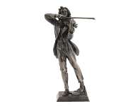 LivingStyles Veronese Cold Cast Bronze Coated Musician Figurine, Paganini