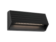 Civita IP54 LED Indoor/Outdoor Step / Wall Light, Black
