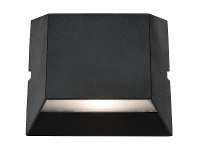 LivingStyles Ethan IP54 LED Outdoor Up/Down Wall Light, Black