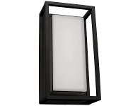 LivingStyles Cayman IP54 LED Outdoor Wall Light, Black