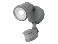 Otto IP54 LED Outdoor Floodlight with Motion Sensor, 1 Light, Silver