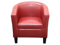 LivingStyles Tavares PU Leather Tub Armchair, Red
