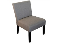 LivingStyles Adelphia Fabric Upholstered Accent Chair, Beige Brown