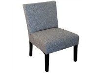 LivingStyles Adelphia Fabric Upholstered Accent Chair, Light Grey