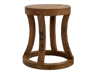 LivingStyles Surveyors Rod Solid Timber Round Stool