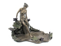 LivingStyles Veronese Cold Cast Bronze Coated Lady Stepping Water Jewellery Tray