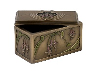 LivingStyles Veronese Cold Cast Bronze Coated Floral Jewellery Box