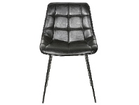 LivingStyles Nantes Commercial Grade Faux Leather Dining Chair, Black