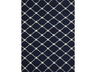 LivingStyles Nomad Hand Knotted Weave Stitch Design Woolen Rug in Navy - 225x155cm
