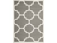 LivingStyles Nomad Hand Knotted Weave Moroccan Design Woolen Rug in Grey - 225x155cm