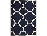 LivingStyles Nomad Hand Knotted Weave Moroccan Design Woolen Rug in Navy - 225x155cm