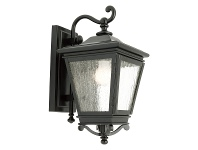 LivingStyles Nottingham IP43 Outdoor Wall Light - Black