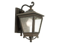 LivingStyles Nottingham IP43 Outdoor Wall Light - Bronze