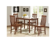 LivingStyles Norma 5 Piece Solid Oak Timber Dining Set