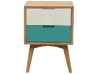 LivingStyles Molton Hand Crafted Mango Wood 2 Drawer Nightstand