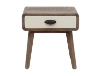 LivingStyles Axminster Hand Crafted Mango Wood Timber Nightstand