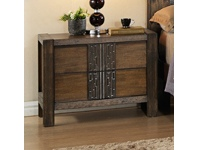 LivingStyles Atticus Wooden Bedside Table