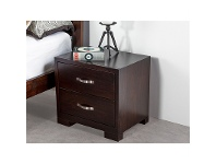 LivingStyles Montana Solid Pine Bedside in Chocolate
