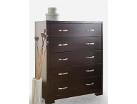 LivingStyles Montana Solid Pine Tallboy in Chocolate