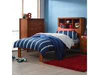 LivingStyles Tiarra Solid Pine Timber King Single Bed