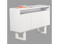 LivingStyles Neve 3 Door Low Cabinet - Matt White