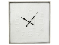 LivingStyles Guilie Metal Square Wall Clock, 80cm
