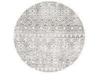 LivingStyles Oasis Ismail Tribal Round Rug, 240cm, Grey