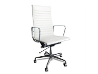 Executive Eames Replica Leather Office Chair - White Premium