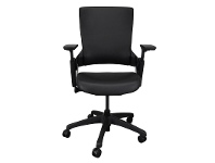 LivingStyles Merna PU Leather Ergonomic Office Chair, Black