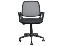LivingStyles Burston Fabric Office Chair, Black
