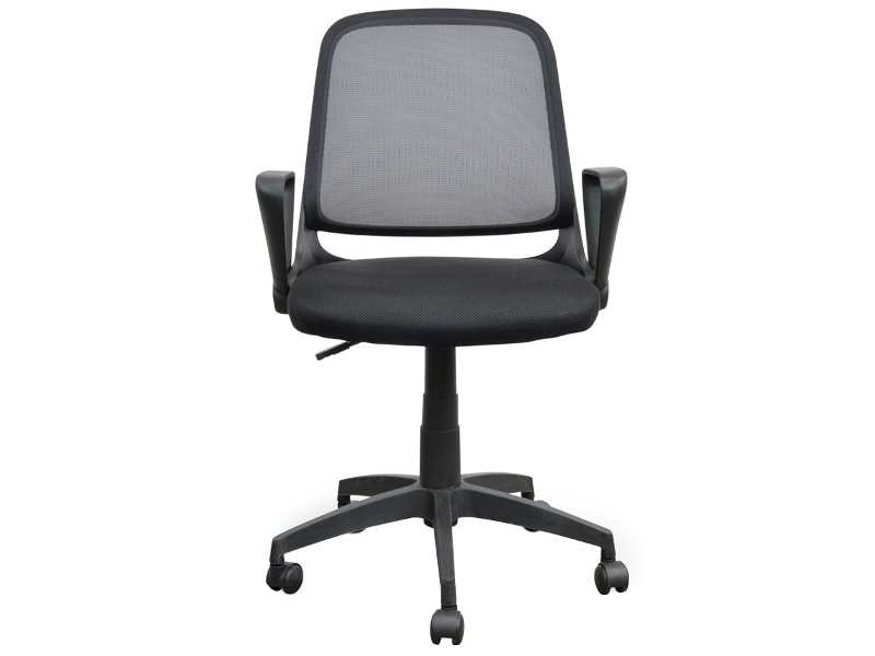 Burston Fabric Office Chair, Black