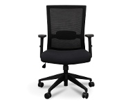 LivingStyles Garner Mesh Fabric Office Chair, Black