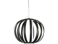 LivingStyles Buco Cane Slated Pendant Shade - Brown (Oriel Lighting)