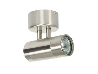LivingStyles Comma IP54 Outdoor Wall Light, Brushed Chrome