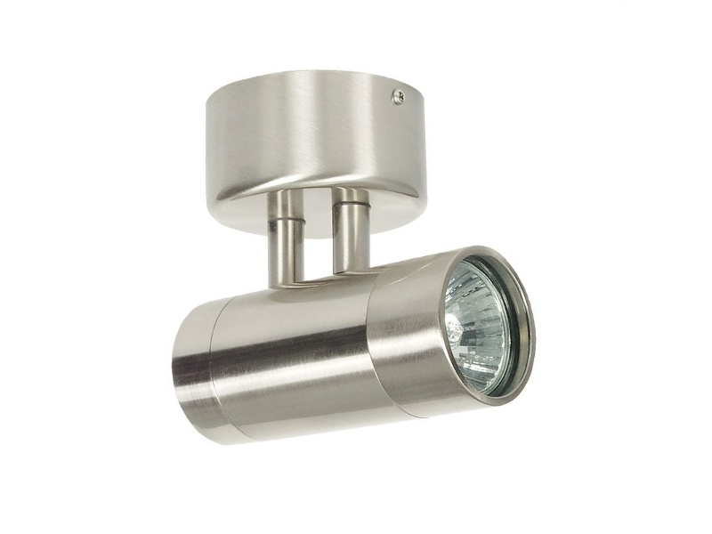 Comma IP54 Outdoor Wall Light, Brushed Chrome