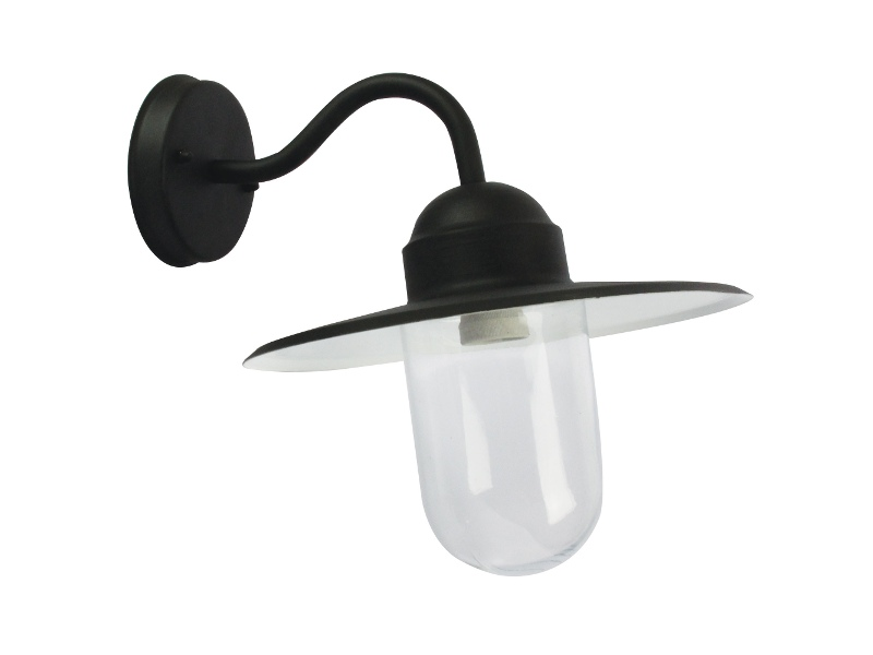 Alley IP44 Exterior Angled Wall Light, Black