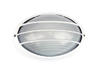 LivingStyles Galaxy IP54 Exterior Bunker Light, Guarded, White