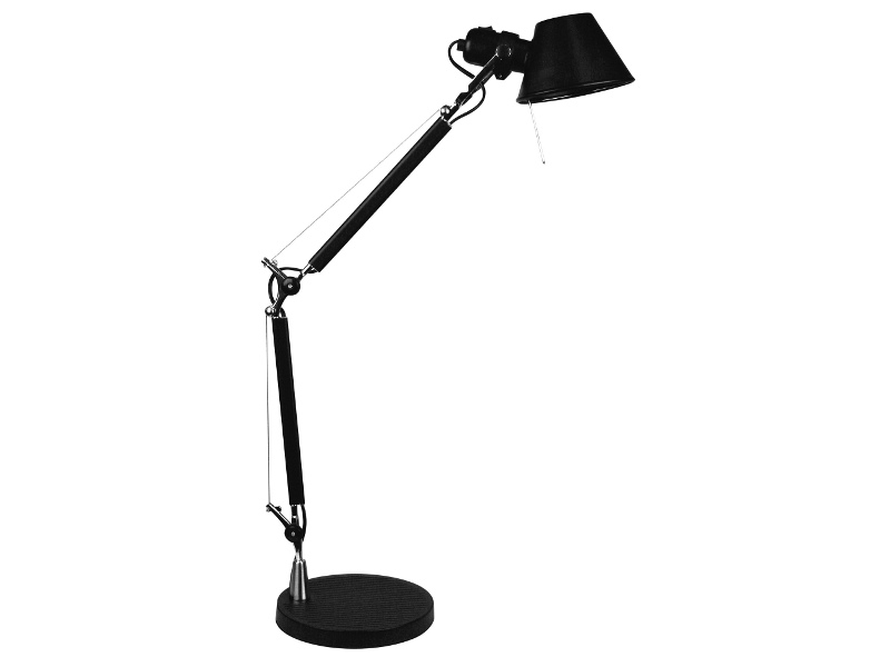 Forma Metal Adjustable Desk Lamp, Black