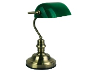 LivingStyles Bankers Touch Desk Lamp, Antique Brass