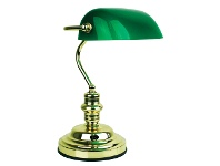 LivingStyles Bankers Touch Desk Lamp, Polished Brass