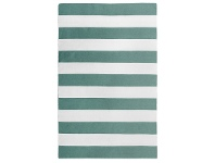 LivingStyles Bold Stripe Hand Woven Indoor/Outdoor Rug, 220x320cm, Turquoise