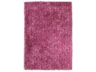 LivingStyles Orlando Metallic Noodle Hand Tufted Shag Rug, 225x155cm, Berry