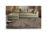 LivingStyles Plush Luxury Shag Rug in Latte - 225x155cm
